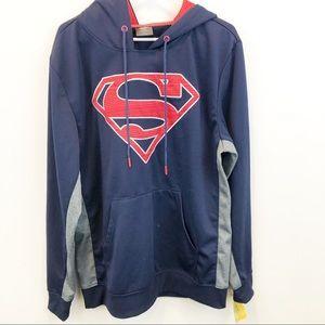 Superman Blue Hooded Sweatshirt NWT